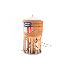 Broadway Limited BLI-6095 Operating Water Tower w/ Sound, w/ UP Logo, Weathered Brown, HO