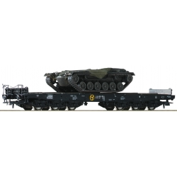 Flat cars - wagons - HO set heavy duty DB 2 pcs Roco 76161