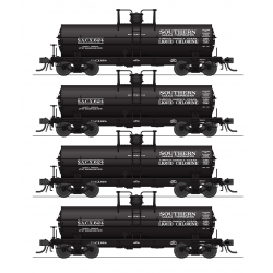 Broadway Limited 6174 6000 Gallon Tank Cars, Southern Alkali, 4-pack, HO
