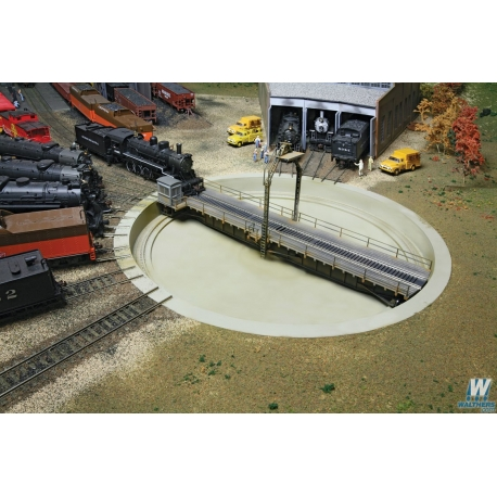 "Walthers 933-2860 Motorized 90' Turntable -- Assembled - 13-3/4"" 34.9cm Overall Diameter, HO"