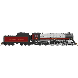 Rapido 600504 Steam Locomotive CP Class H1c 4-6-4 Royal Hudson w/Coal Tender - Sound & DCC -- Canadian Pacific 2839, HO