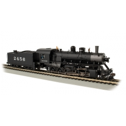Steam Locomotive HO Baldwin 2-10-0 Russian Decapod - ATSF 2456 - black, graphite- WowSound and DCC - Spectrum - Bachmann 85401