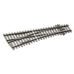 Peco SL-E192 Small Radius Left Hand Turnout Nickel/Silver Rail HO Code 75
