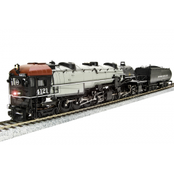 """Broadway Limited 4525 SP Cab Forward 4-8-8-2, AC5 4119, Gray boiler, """"SOUTHERN PACIFIC LINES"""", w/ Paragon3 Sound/DC/DCC, HO"""