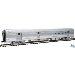 Walthers 910-30302 85' Budd Baggage-Railway Post Office - Ready To Run -- Santa Fe (silver), HO