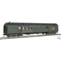 Walthers 920-17401 70' Heavyweight Railway Post Office - Baggage Car - Ready to Run -- Santa Fe (Clerestory Roof, Pullman Green)