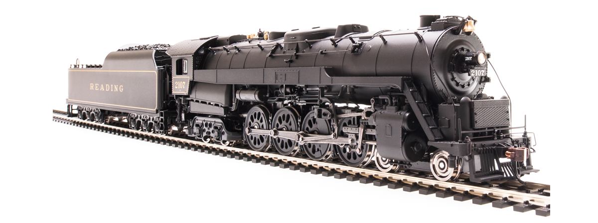 Broadway Limited Imports 4462 Reading T1 4-8-4, In Service Version 2123, Paragon3 Sound/DC/DCC, HO