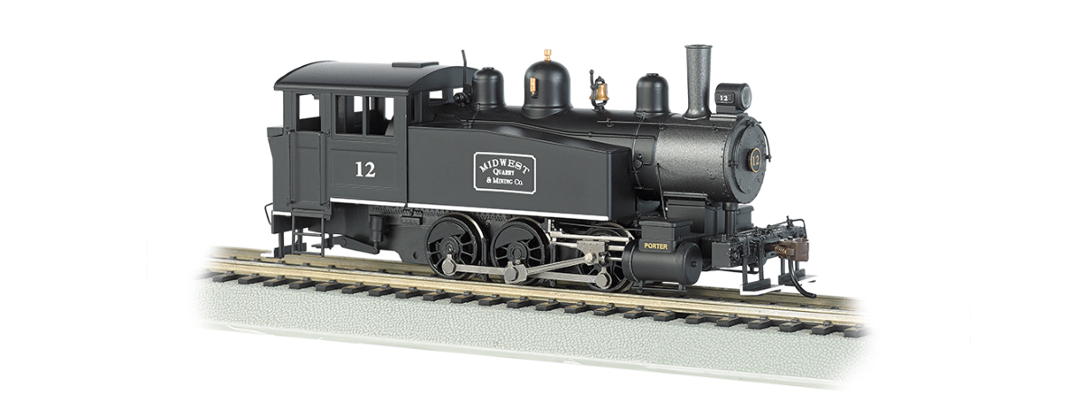 Bachmann 52103 Porter 0-6-0T Side Tank w/DCC -- Midwest Quarry & Mining 12, HO
