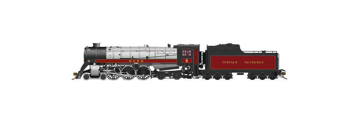 Rapido 600504 Steam Locomotive CP Class H1c 4-6-4 Royal Hudson w/Coal Tender - Sound & DCC -- Canadian Pacific #2839 (maroon, gray, black), HO
