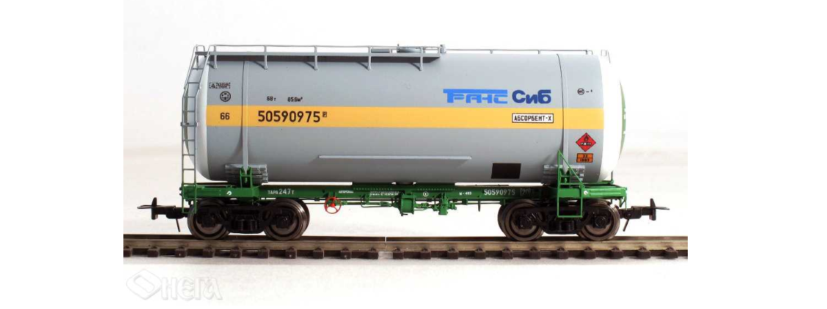 Onega 4-axle tank wagon for gasoline, model 15-1447-0007, HO