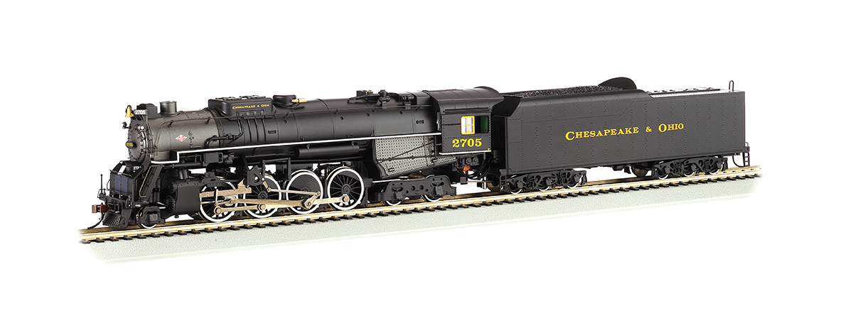 Bachmann 52405 Steam Locomotive 2-8-4 Kanawha/Berkshire w/Sound & DCC -- Chesapeake & Ohio #2705 (black, graphite), HO