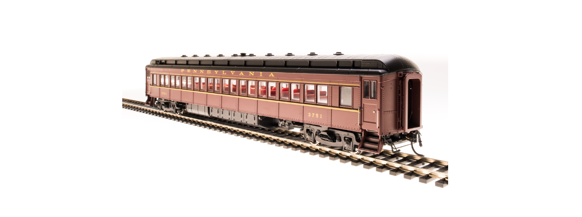 BLI 4961 PRR P70R with Ice AC, Tuscan Red w/ Buff Lettering & Stripes, 4-Car Set, HO