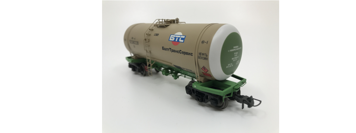Onega 4-axle tank wagon for petroleum products, model 15-1443-0003, HO