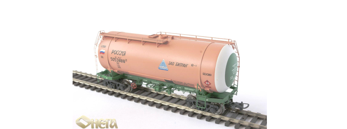 Onega 4-axle tank wagon for gasoline, model 15-1447-0006, HO