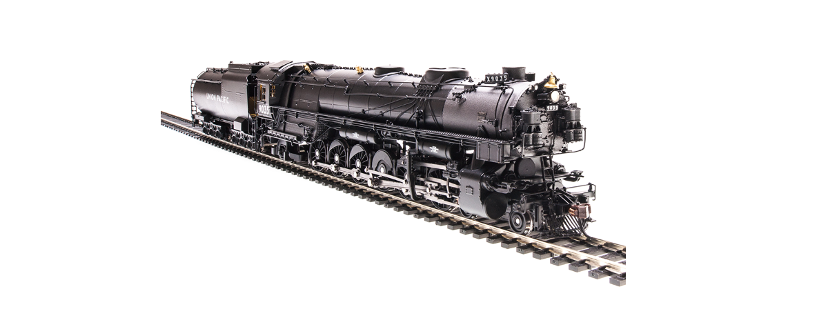"4993 UP-3, 4-12-2, #9019, modernized, ""E-2 Nine Cab"", 18,000 gallon tender, black & graphite, aluminum lettering, Paragon3 Sound/DC/DCC, Smoke, HO"