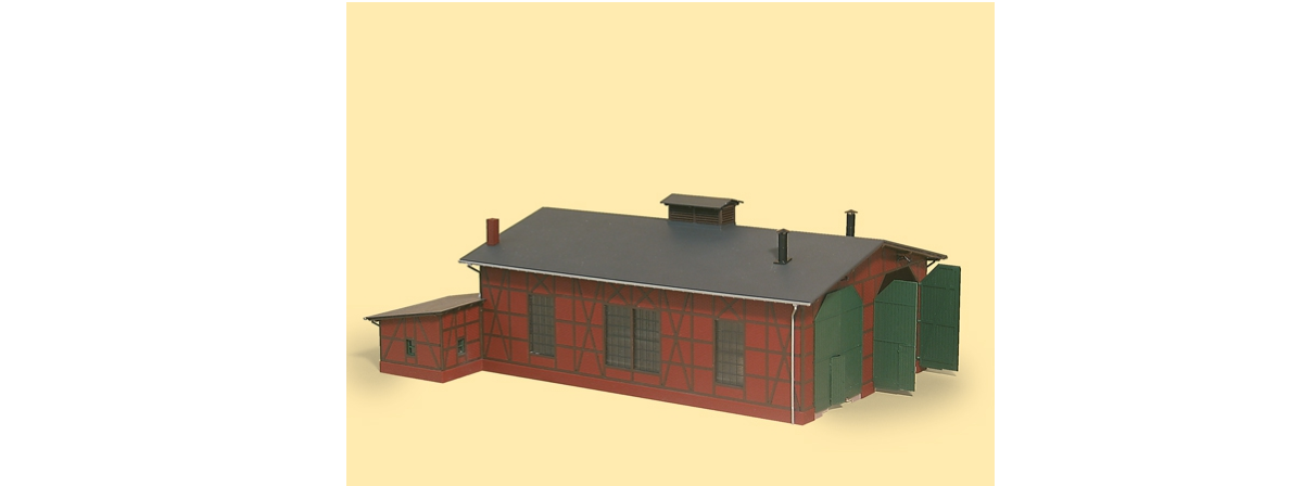11403 Auhagen Two-road engine shed, HO