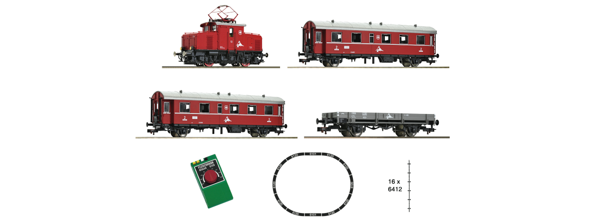 "481702 - Fleischmann Analogue Starter Set ""rack-and-pinion railway"", Swiss private railway, HO"