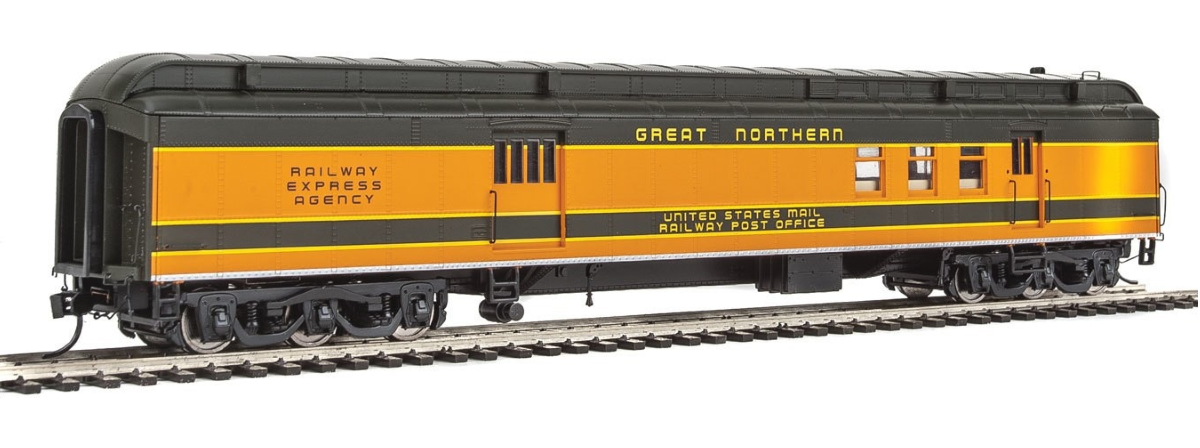 Walthers 920-17404 70' Heavyweight Railway Post Office - Baggage Car - Ready to Run -- Great Northern, HO