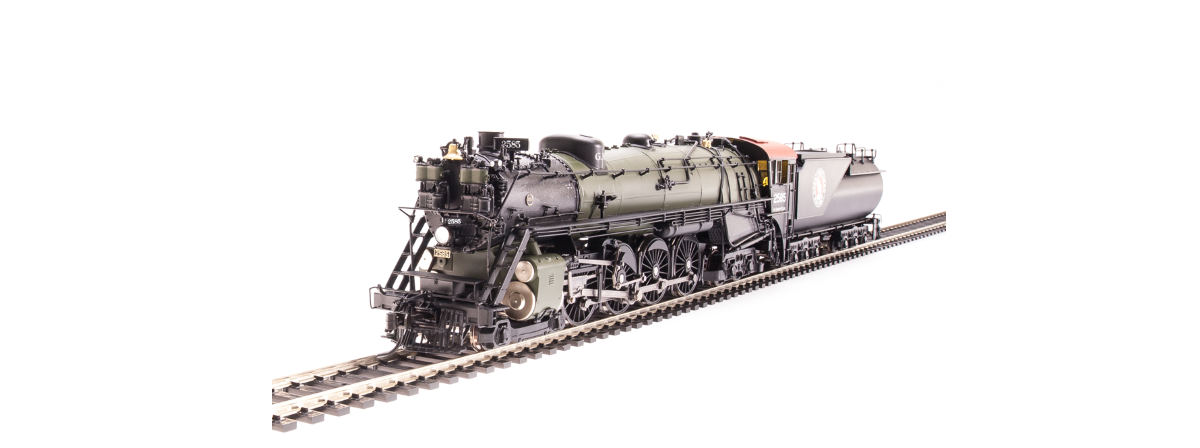 Broadway Limited 5646 Great Northern S-2 4-8-4, #2587 with vestibule cab, Glacier Park, Paragon3 Sound/DC/DCC, Smoke, HO