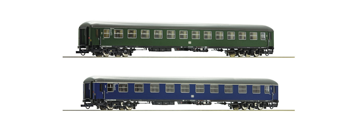 Roco 74113 2 piece set: Fast train coaches, Museum Darmstadt-Kranichstein, HO