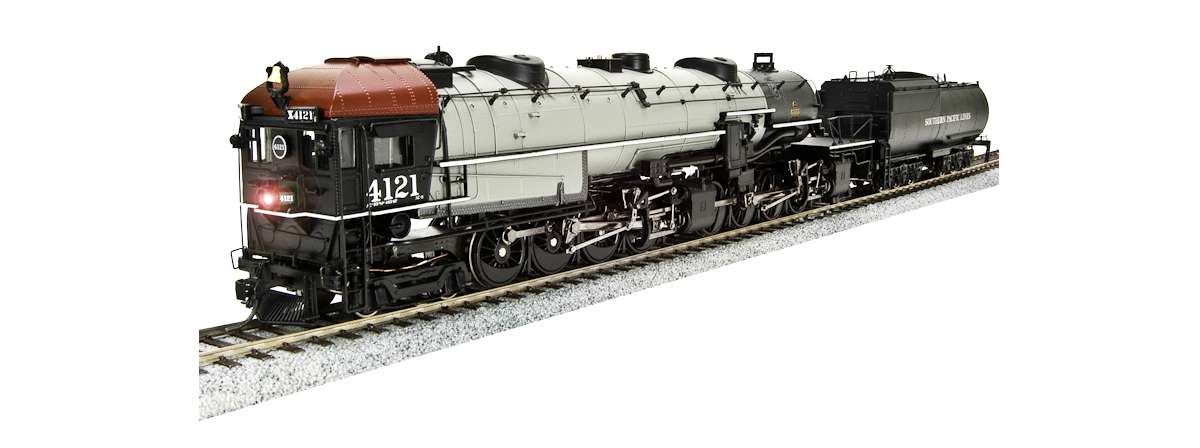 "Broadway Limited 4525 SP Cab Forward 4-8-8-2, AC5 4119, Gray boiler, ""SOUTHERN PACIFIC LINES"", w/ Paragon3 Sound/DC/DCC, HO"