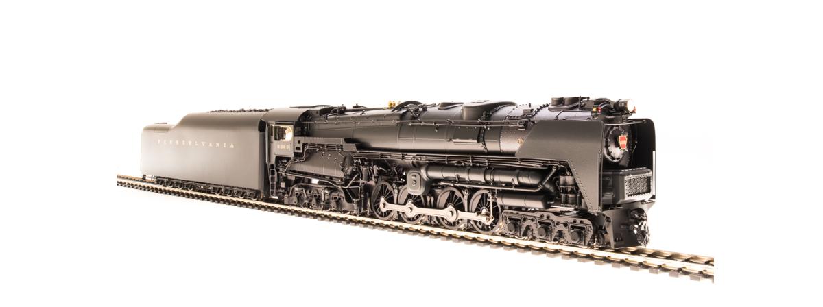 Broadway Limited 2696 PRR S2 6-8-6 Turbine 6200, with large smoke deflectors, Paragon3 Sound/DC/DCC, HO