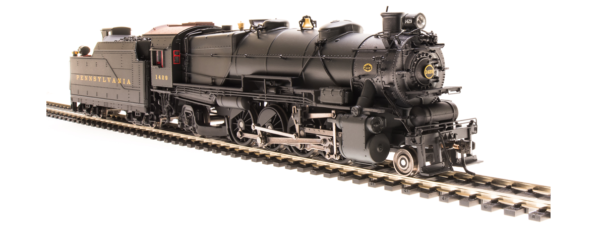 Broadway Limited 4394 PRR L1s 2-8-2, 1343, Post-war Version, Paragon3 Sound/DC/DCC, HO