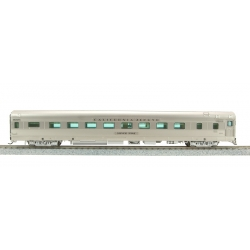 Sleeper car HO Zephyr CB&Q 16 Section Sleeper car №402 Silver Cedar Broardway Limited 1519