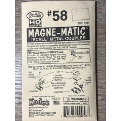 Kadee 58 Scale Metal Couplers - Medium Centerset (HO), 2 pair
