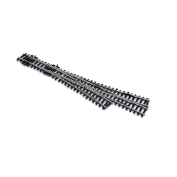 Peco SL-E199 Code 75 Staggered 3-Way Turnout w/Electrofrog, HO