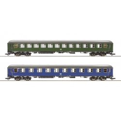 Fast train coaches 2 piece set HO Museum Darmstadt-Kranichstein Roco 74113