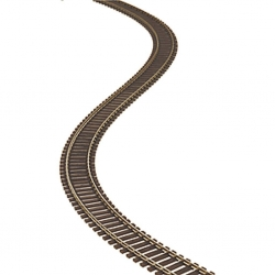 "Peco 1163 Code 75 Wooden Tie Flex Track - Streamline -- 36"" 91.4cm Section, HO"