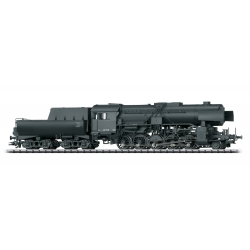 Steam Locomotive HO Class 42 2-10-0 - Sound and DCC-SX -- German State Railroad DR 42 506 Era II 1944 black Trix 22225