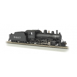 Steam Locomotive HO Alco 2-6-0 - Santa Fe 9447 - E-Z App Control & Sound - Bachmann 57803