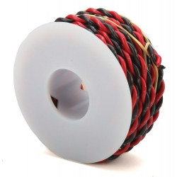Two Conductor Hookup Wire - 18 Gauge - 20' -- Black & Red Wire Works 218160200