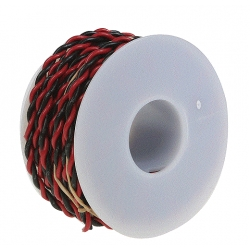 Wire Works 220100250 20 Gauge 2-Conductor Hookup Wire -- 25' (black & red)