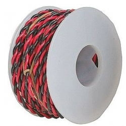 Wire Works 222070300 Two Conductor Hookup Wire - 22 Gauge - 30' -- Black & Red