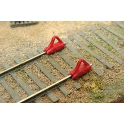 Car Stops HO - Unpainted Metal Castings 6pcs - Durango Press DP-206
