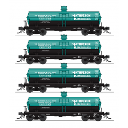 Tank car set HO 6000 Gallon Tank Mathieson Broadway Limited 6175 4-pack
