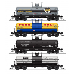 Tank car set HO 6000 Gallon Tank Variety Set F 1960's and later Broadway Limited 6179 4-pack