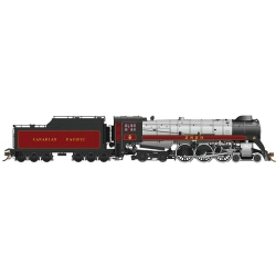Rapido 600503 CP Class H1c 4-6-4 Royal Hudson w/Oil Tender - Sound & DCC -- Canadian Pacific 2829 (maroon, gray, black), HO