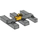 Stop blocks - brake shoes H0 - Roco 40004