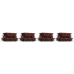 Ore wagons - cars- HO - SJ - 4 piece set - Roco 67075