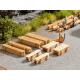 Piles of Planks -- Bretterstapel -- 8 piles HO Noch 14214