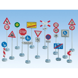 Traffic Signs -- Verkehrszeichen -- HO 270 traffic signs coloured and perfurated 63 posts Noch 60521