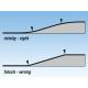 Ramp with embankment -- Auffahrt mit Böschung -- Single Track 4 % grade 2600 x 55 mm 10 cm high HO Noch 99356