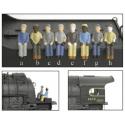 Engineer & Fireman Figures - Ingenieur & Feuerwehrmann Figuren- HO - 2-Pack A --c-h-- Broadway Limited 1005