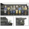 Engineer & Fireman Figures - HO - 2-Pack A --c-h-- Broadway Limited 1005