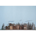 Background Scene - Hotel-Business - 24x36 in - 60x90cm - HO - Instant Horizons - Walthers SceneMaster 949-712