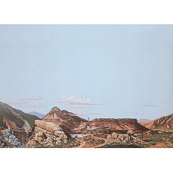Background Scene 24x36 inches - 60x90cm - Mountain to Desert - Instant Horizons - HO - Walthers SceneMaster 949-703